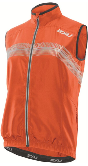 2XU M's Microclimate Reflector Vest Blazing Orange/Charcoal